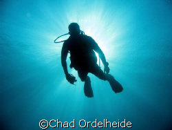 Eric Fly floats in the solar flare!